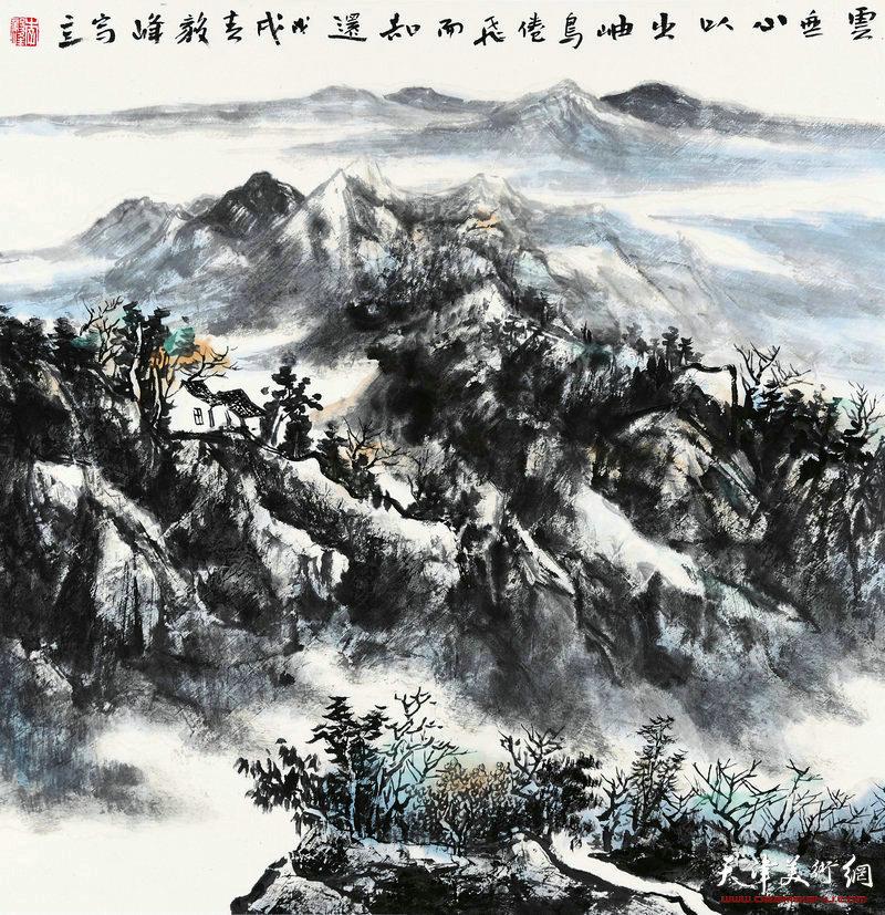 李毅峰-云无心以出岫 鸟倦飞而知远68X68cm