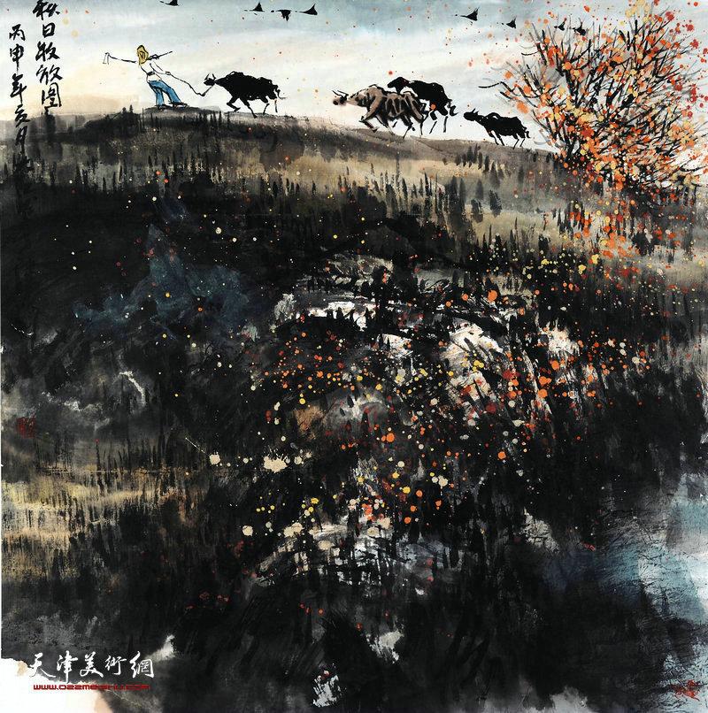吕大江-秋日牧放图68X68cm