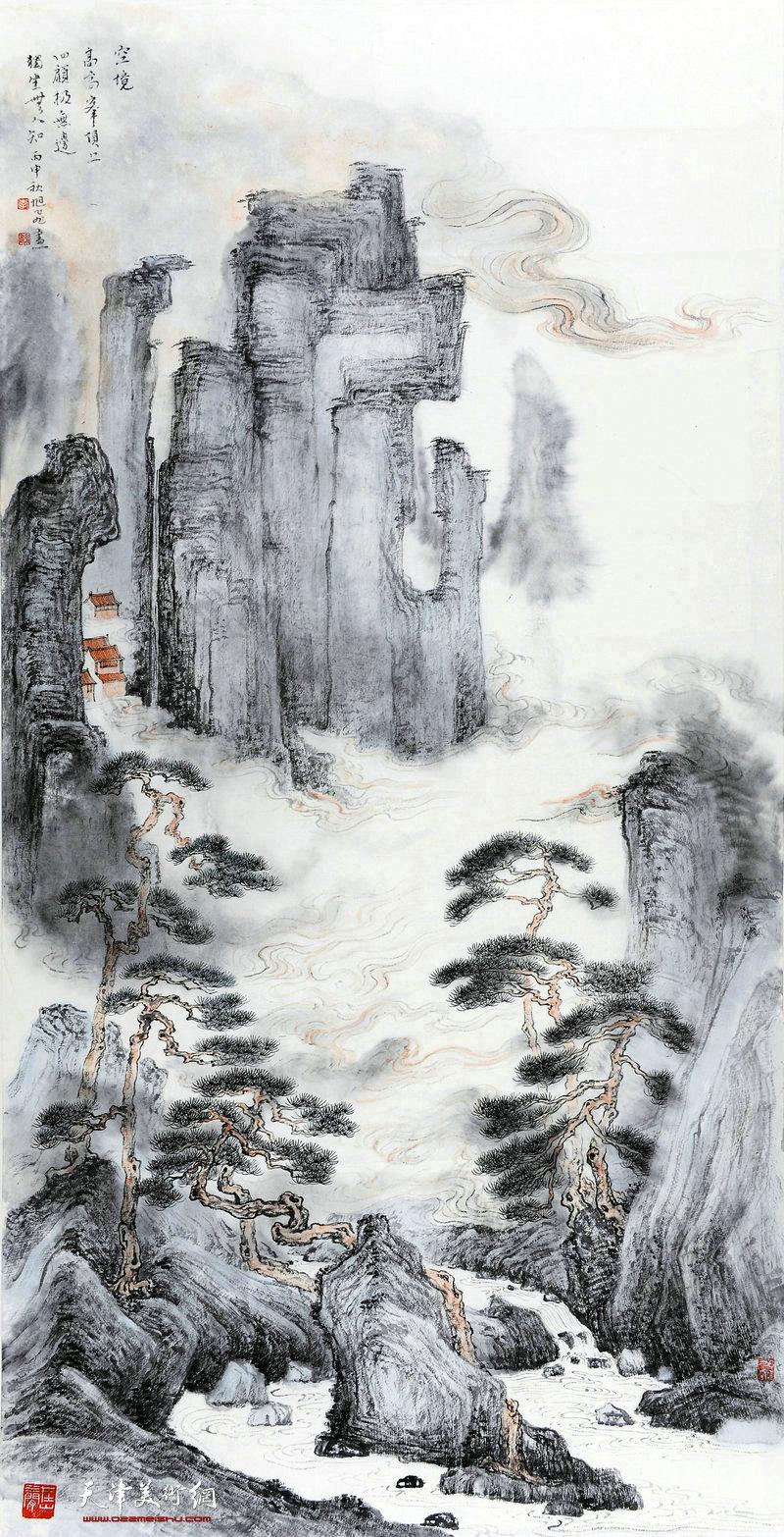 李旭飞-空境68x138cm