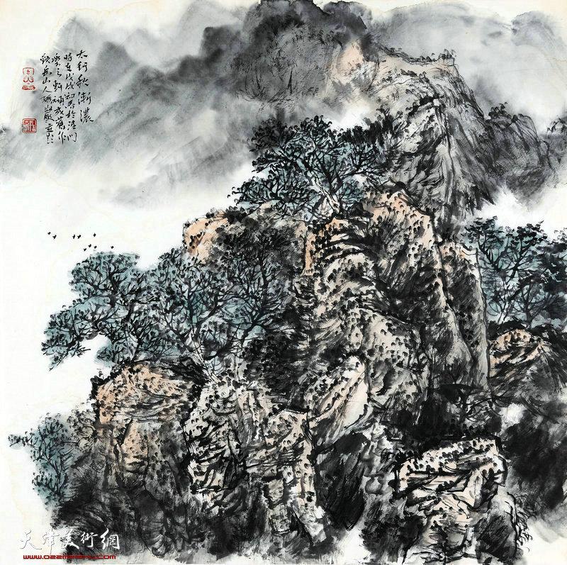 孙岩-太行秋渐浓68x68cm