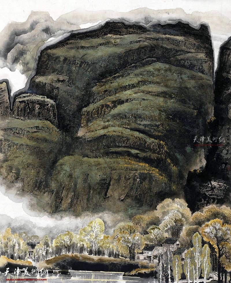 金嶺参天    纸本  180×140  1985年