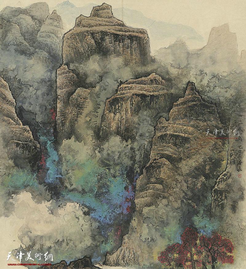 出山 纸本  170×150  1982年