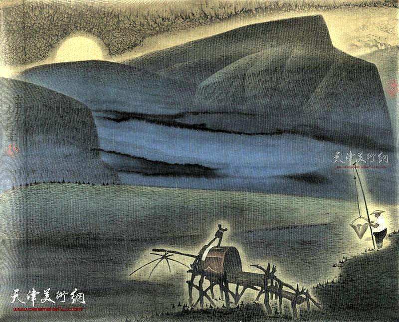 渔乐  绢本  57×46   1990年