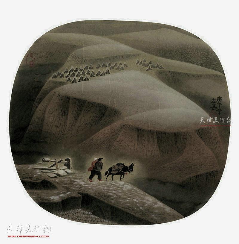 正月雪 绢本  54×50  1991年