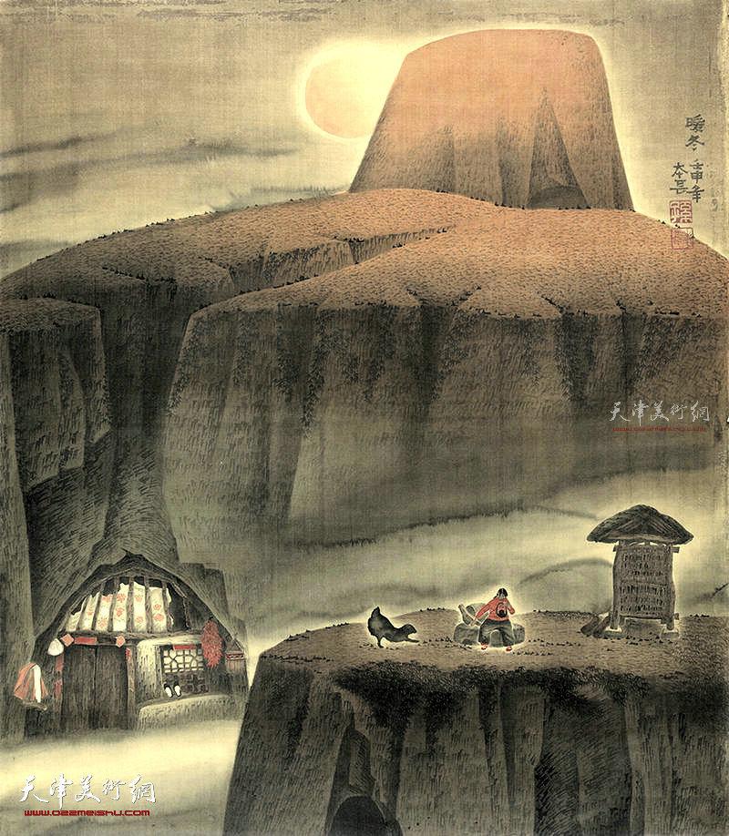 暖冬 绢本  96×83  1992年