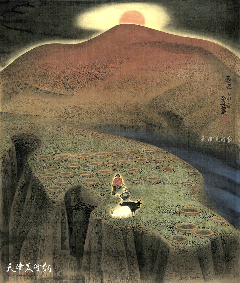 暮色 绢本 96×83    1992年