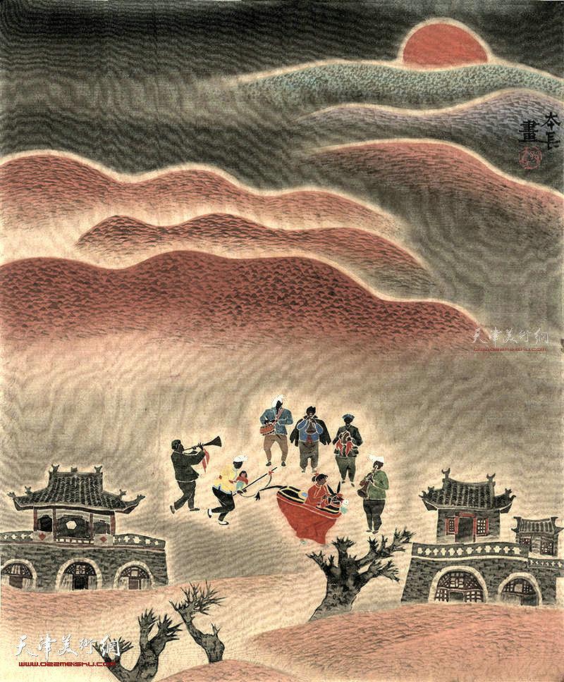 黄土高坡 绢本 65×50 1993年