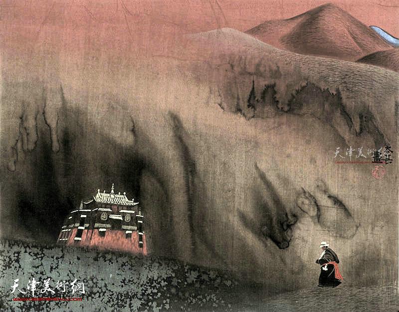 天歌 绢本  65×52    1995年