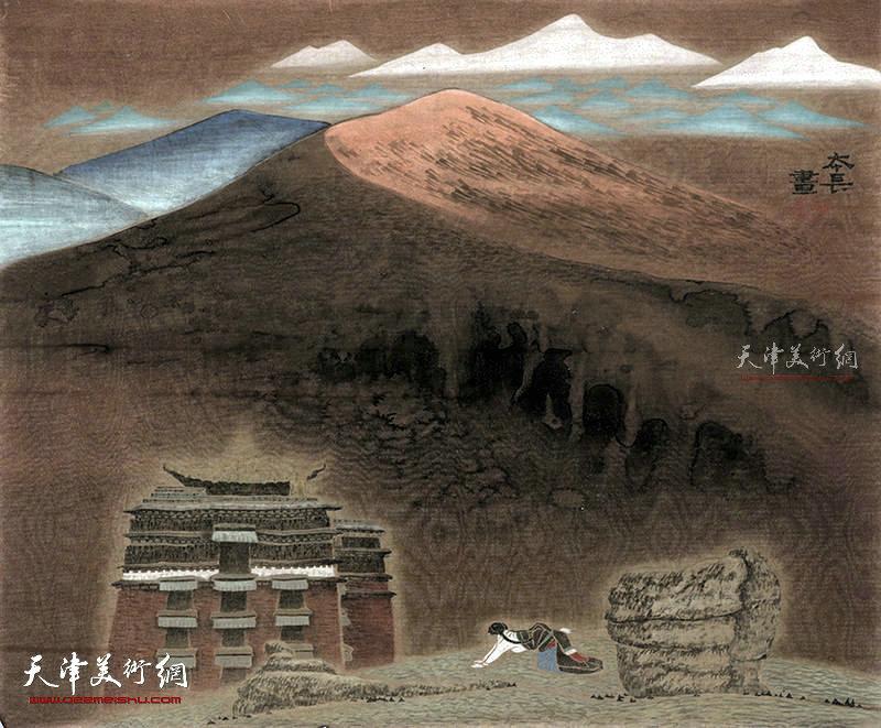 企望  绢本  65×52    1995年