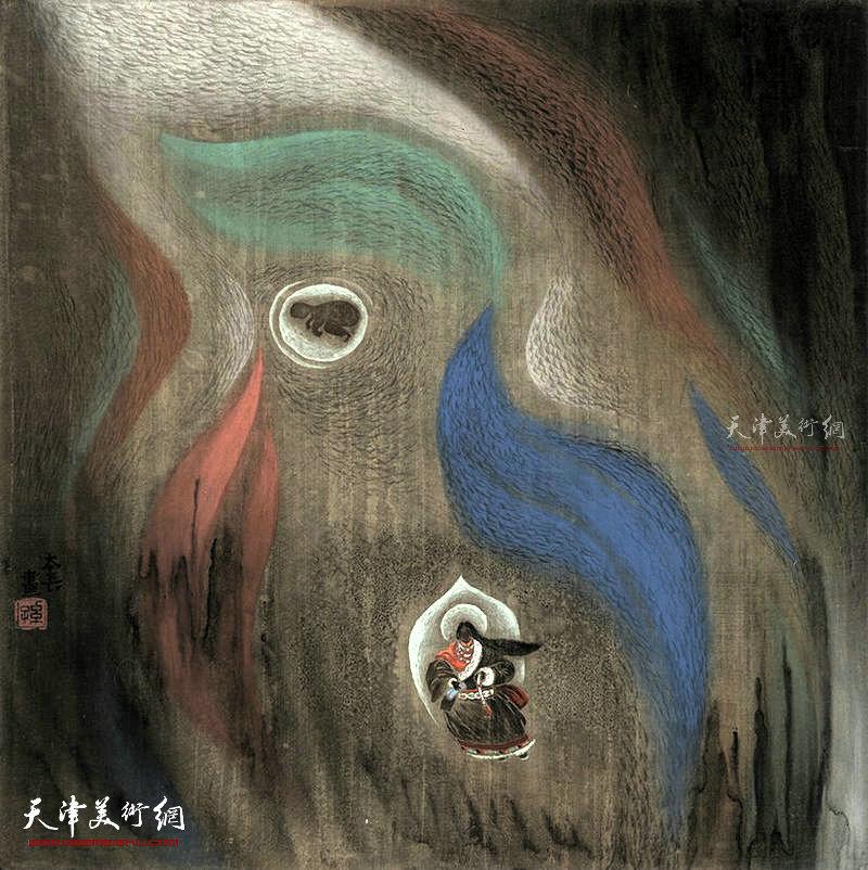 慈光  绢本  65×65    1995年