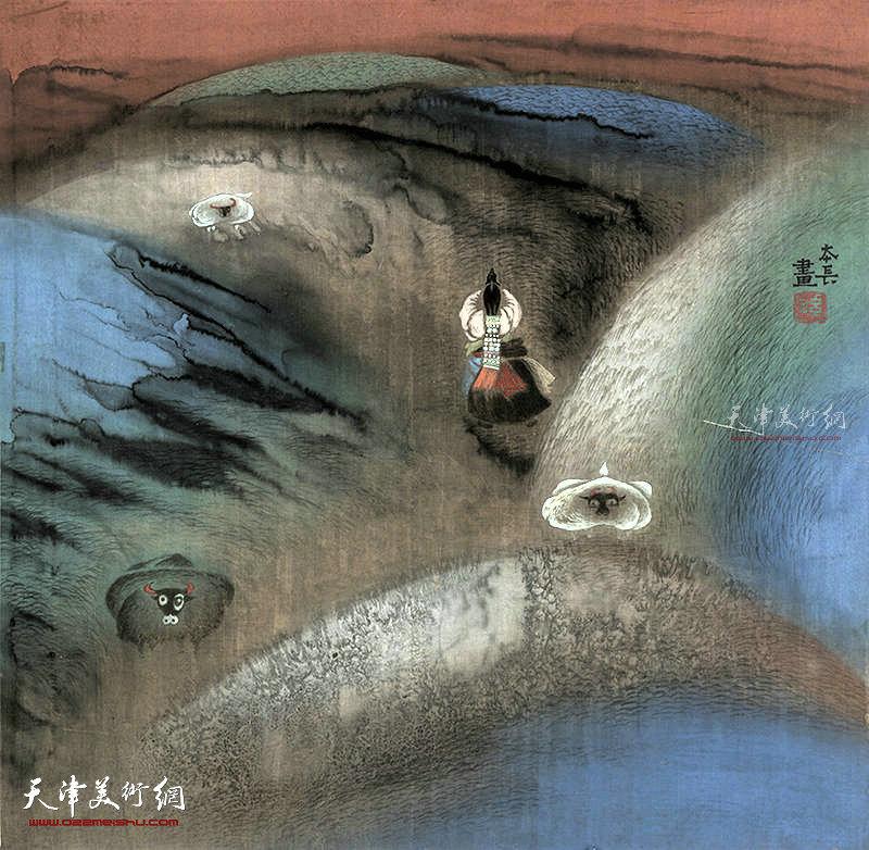 祈愿  绢本  65×65    1995年