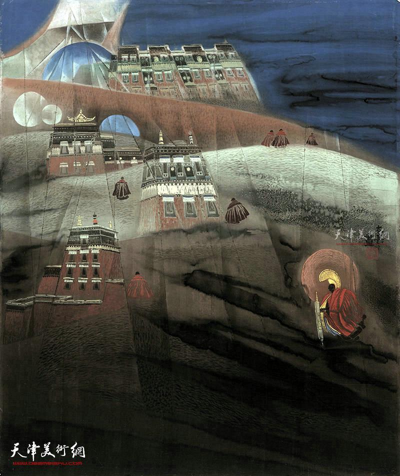 遥望圣界  绢本  96×81    1996年