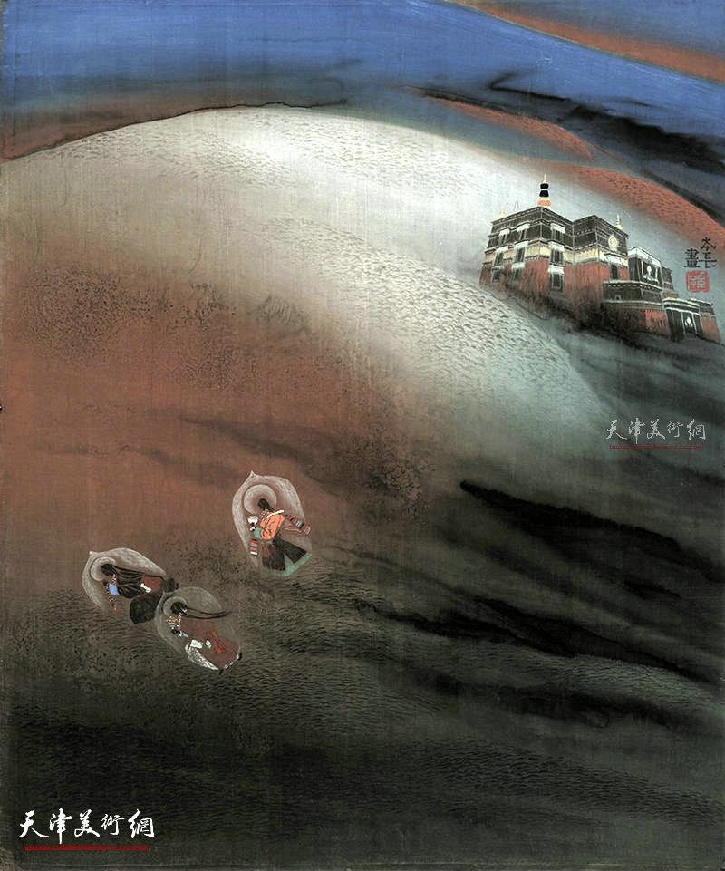 千供  绢本  96×81    1996年