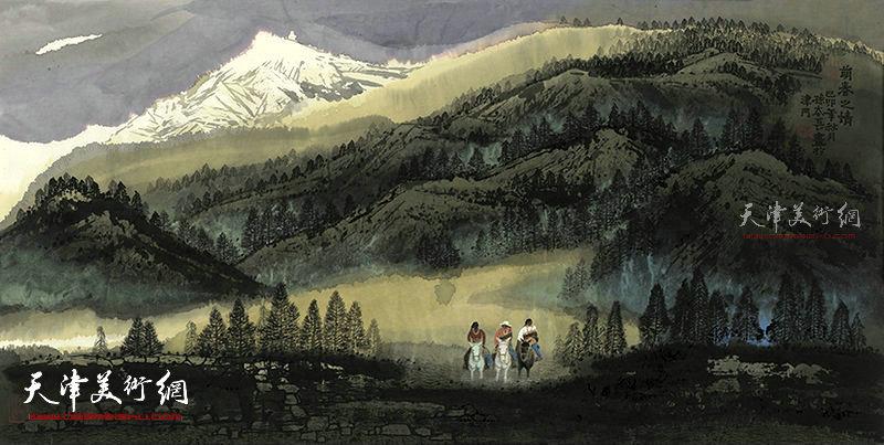 萌春之情   纸本  138×69   1999年