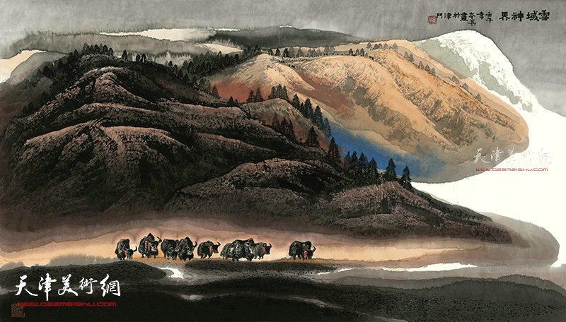 雪域神界  纸本  180×78   1997年