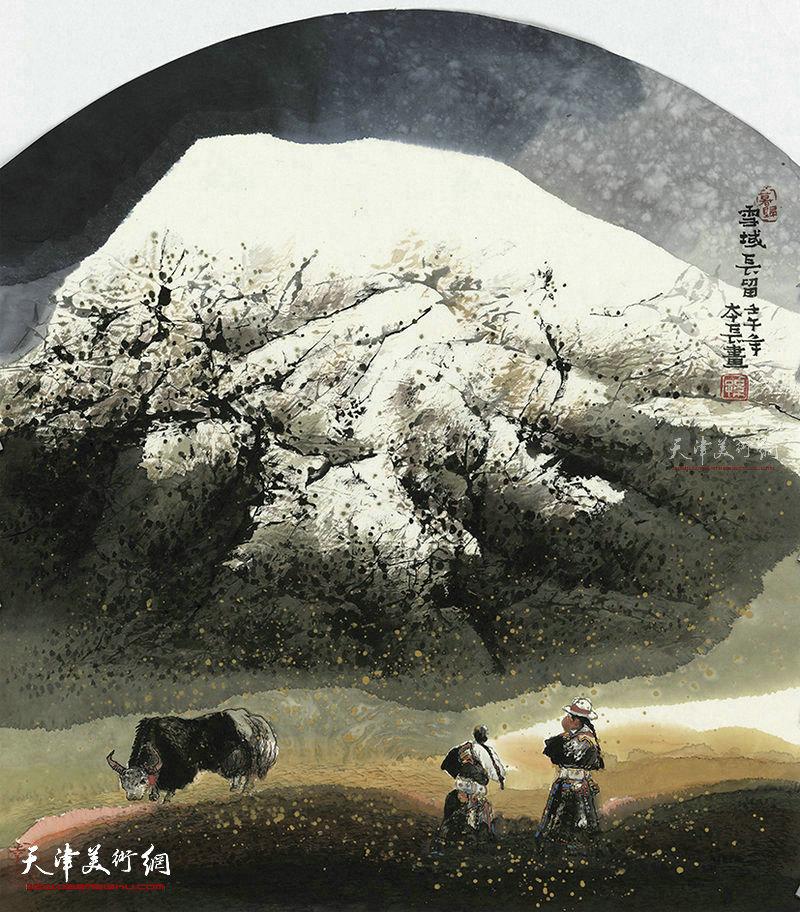 雪域长留  纸本  96X68     2001年