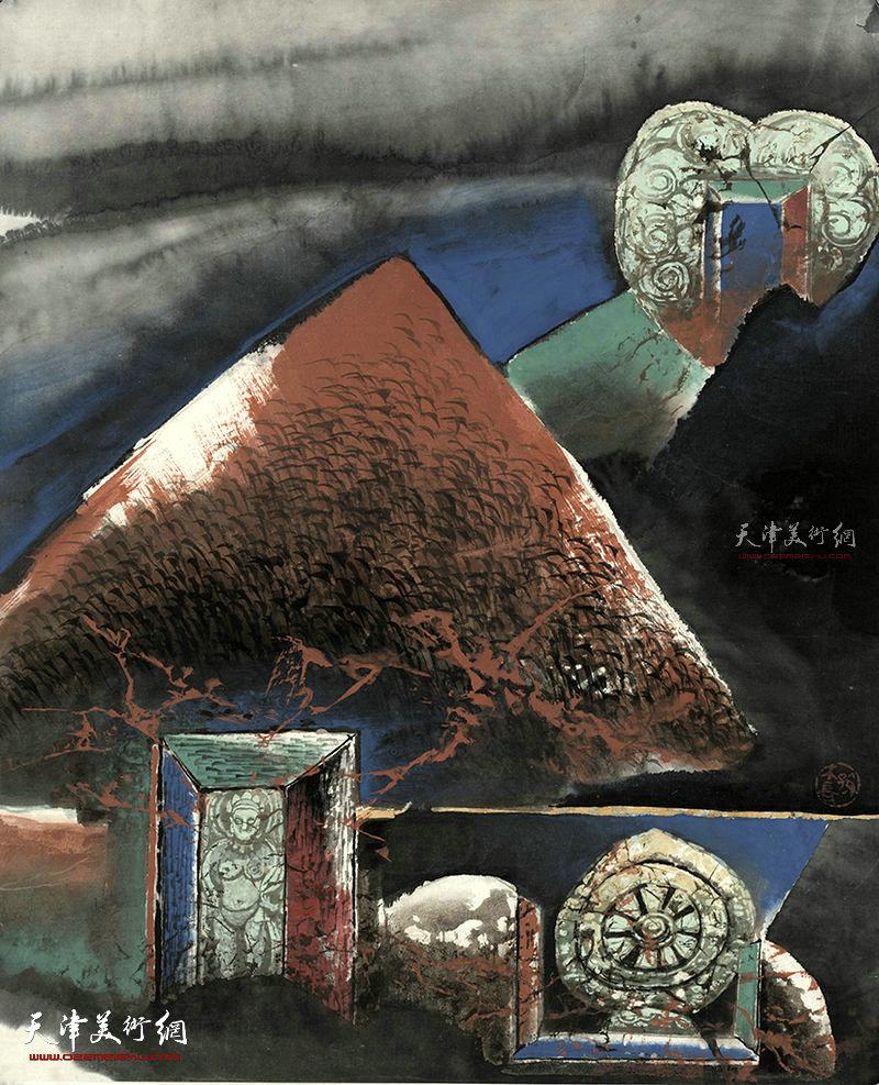 梦向极乐  纸本  51×41    1996年