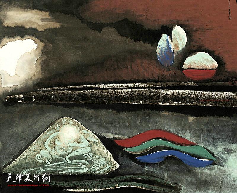生命的原色 纸本  51×41    1996年
