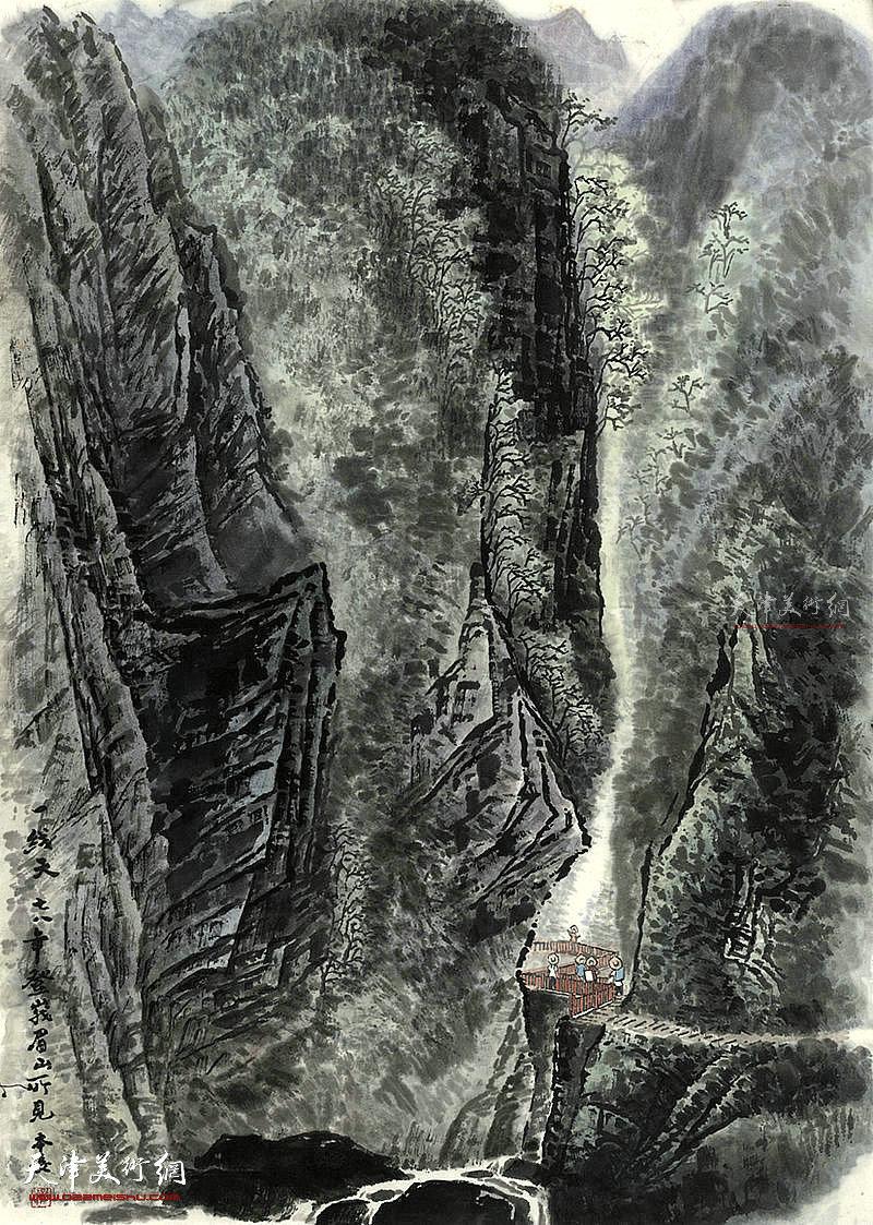 一线天 纸本  68×46    1978年