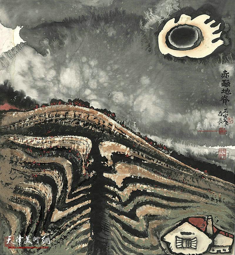 赤融地脊  纸本98x90 1986年