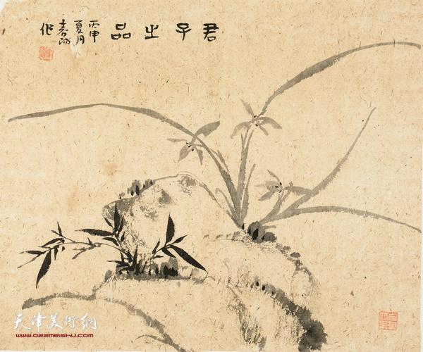 霍春阳作品:君子之品 水墨纸本 48cmX56cm 2016年