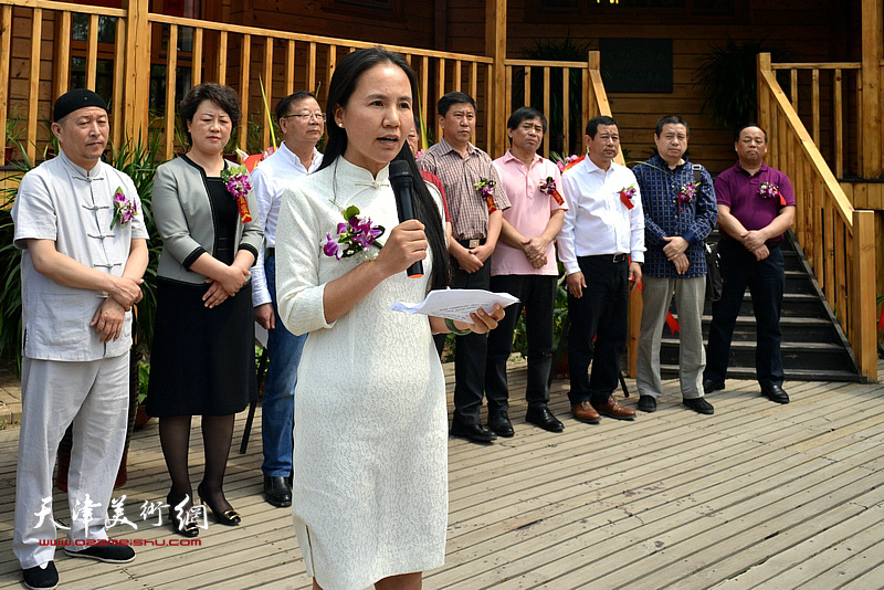绿源生态园总经理张洪艳致辞。