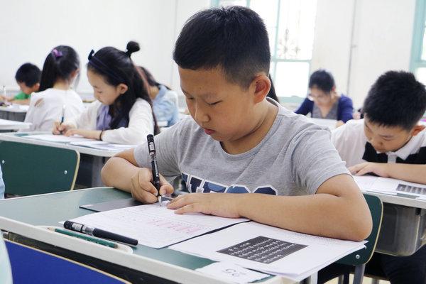 中国书画等级考试天津考区考场。