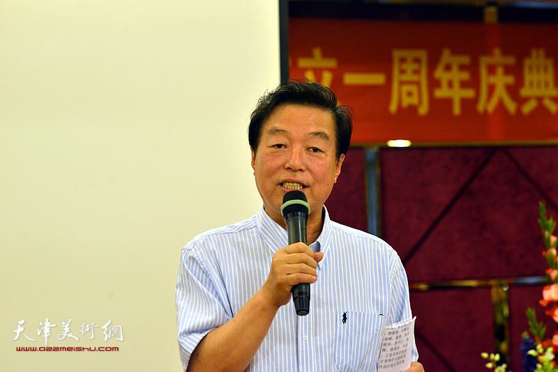 杨建国主持《闻道》栏目艺术专题首播仪式暨久慕书画院成立一周年庆典