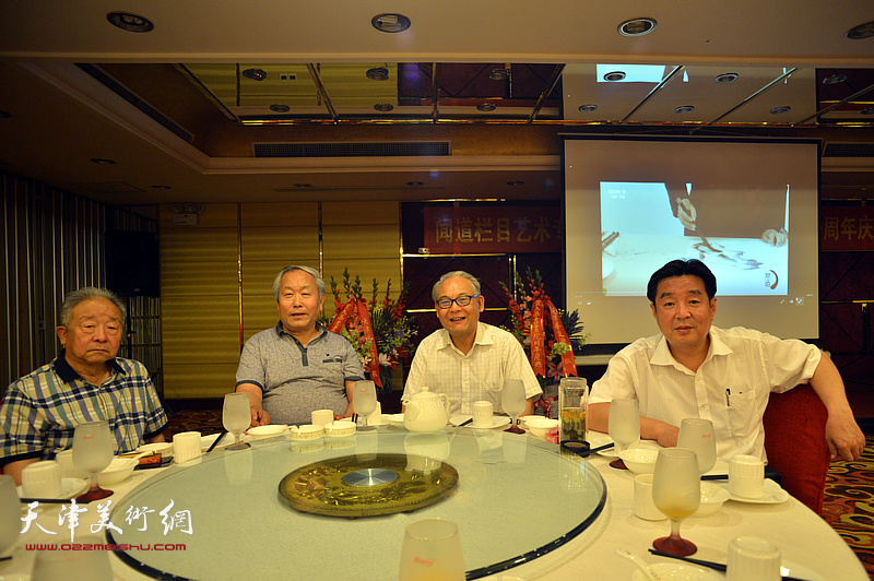 左起:况瑞峰、唐云来、何俊田、陈伟明在活动现场。