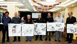 天津闻道久慕书画院书画家到华明镇开展文化交流