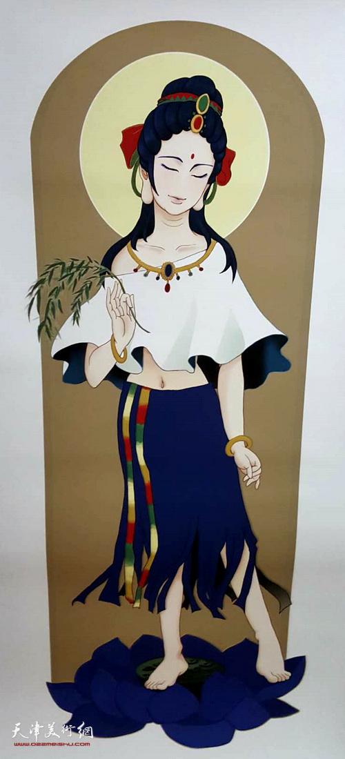 马孟杰女儿佛教系列作品