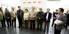 高清图:《长城华彩》书画展在天津图书馆举办
