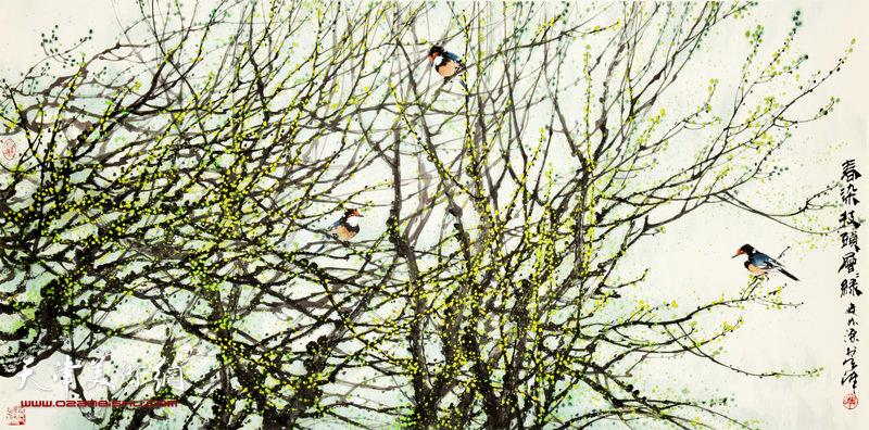 史如源作品:春染枝头层层绿