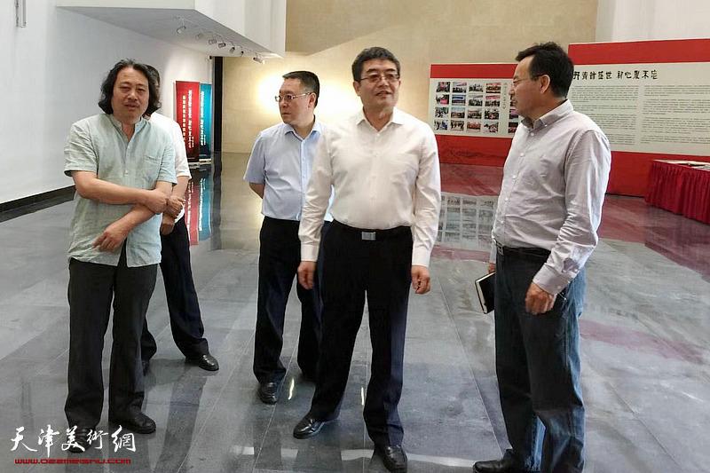 2018年5月25日,中共天津市委常委、宣传部部长陈浙闽在天津画院新址调研。
