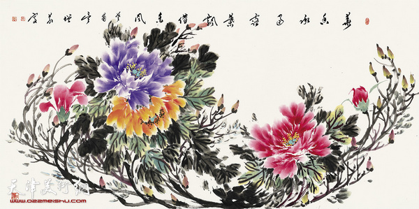 吴增义作品:牡丹