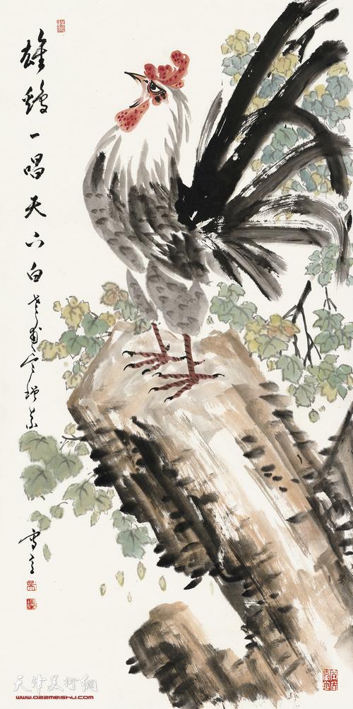 吴增义作品:雄鸡一唱天下白