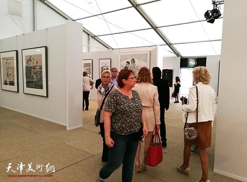 写意中国——中国国家画院美术作品欧洲巡展展览现场。