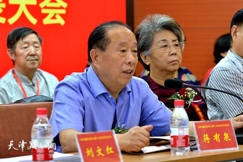 中国楹联学会会长蒋有泉讲话。