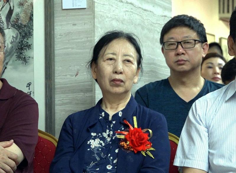 中国国家画院画家、中国美协理事孔紫在开幕式现场