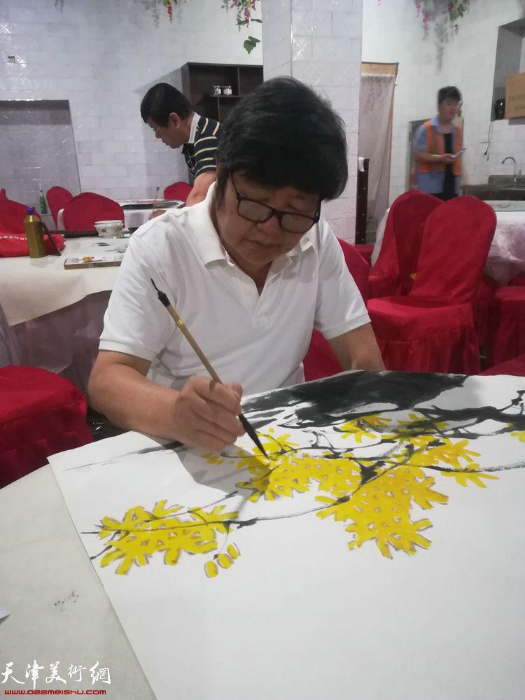 王惠民在碛口交流笔会上。