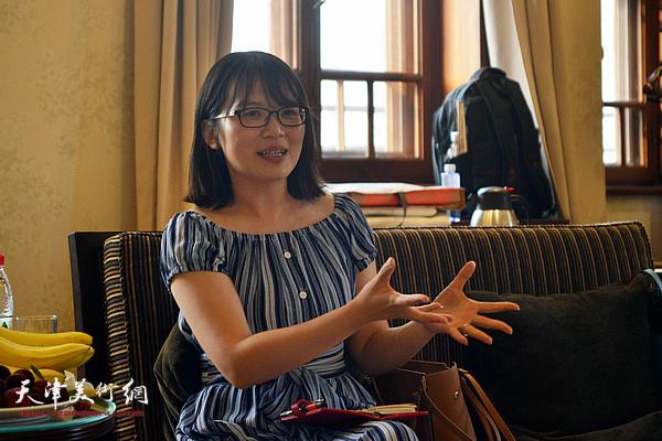 天津理工大学教师农郁博士发言。