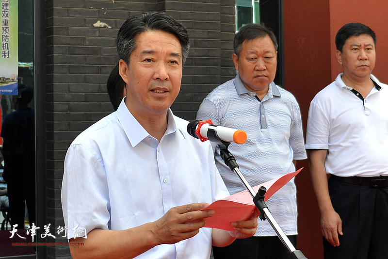 静海区区委常委、区委办公室主任、宣传部长杨广才致辞