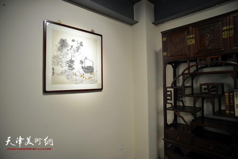 """""""浮生雅趣""""国画名家邀请展现场。"""
