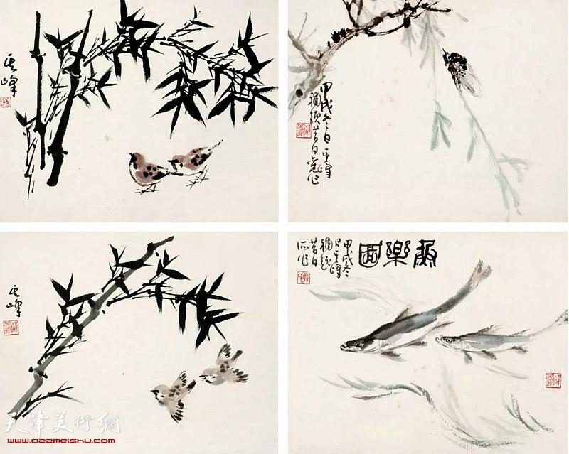 孙其峰《花鸟册页》