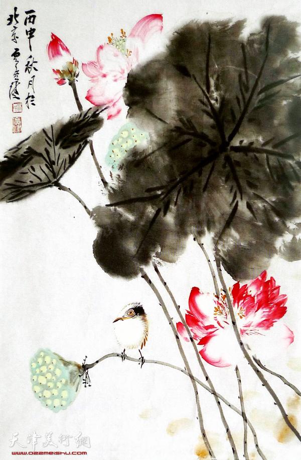 260号拍品:贾广健《红蓼小鸟》
