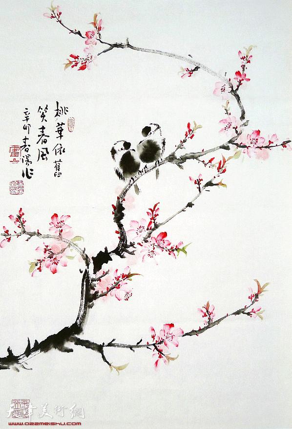 245号拍品:霍春阳《桃花依旧笑春风》