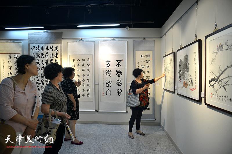 """河西区庆""""七一""""书画展"""