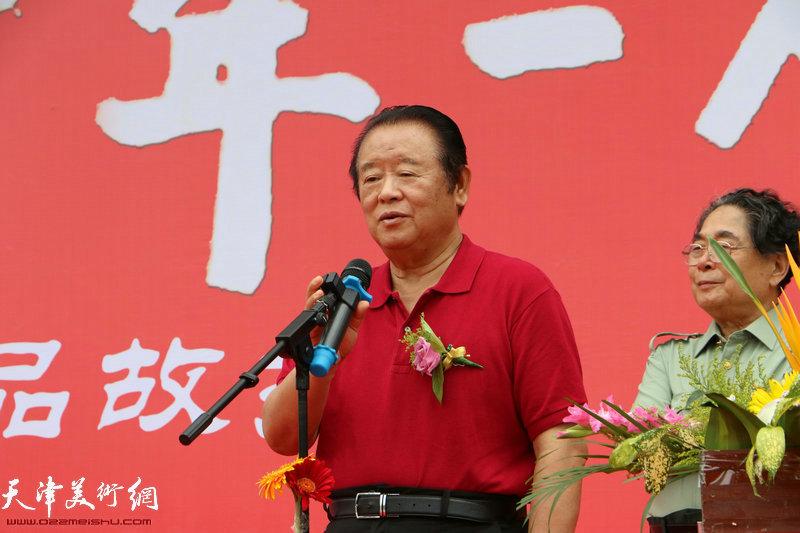 原沈阳军区政治部副主任韩锡平少将致辞。