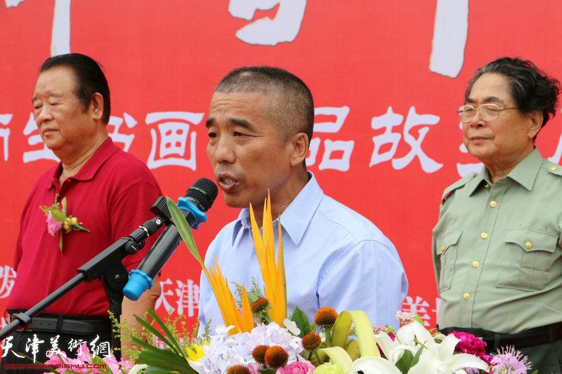 中国文化艺术发展促进会副会长、秘书长王建国致辞。