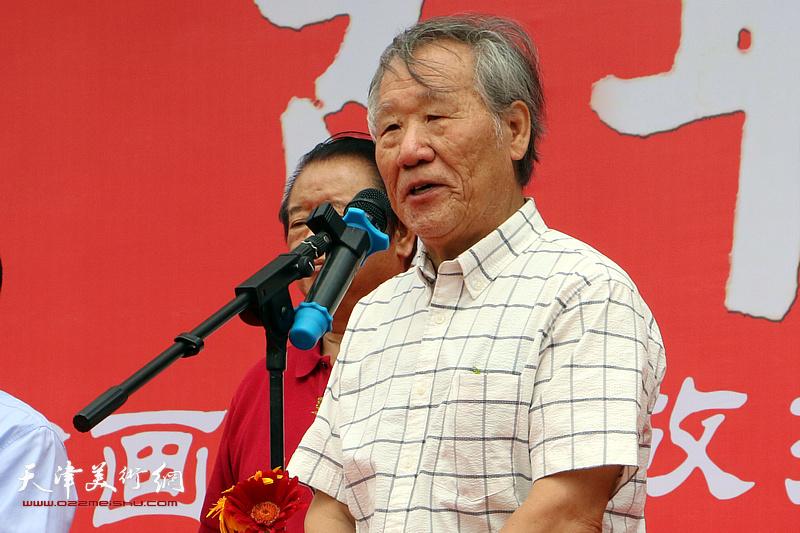 天津市美术家协会山水画专委会主任姬俊尧致辞。